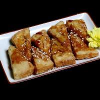 tofu teriyaki – 15zł / smażone tofu podawane z sosem teriyaki