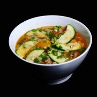 ramen – 22zł / ostra koreańska zupa z makaronem, warzywami i wieprzowiną