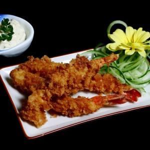 ebi furay - 50zł / panierowane i smażone krewetki black tiger, podawane z sosem majonezowym, 6 szt.