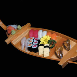 umi unagi - 90 zł nigiri - 2 x węgorz, 1 x dorada, 1 x łosoś, 1 x tuńczyk, 1 x ryba maślana, 1 x krewetka, 1 x kalmar, 1 x omlet