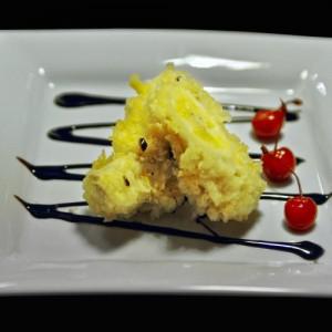 lody w cieście tempura - 28 zł bakaliowe lody smażone w cieście tempura